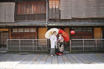 ご遠方からご来店のお客様のフォトウェディング 京都ブライダルフォトワークス