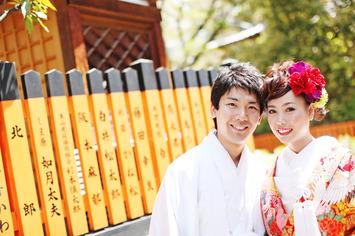 新緑の中で行うフォトウェディング 京都祇園 植物園