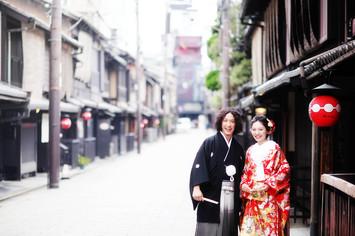 吉田神社と京都祇園で和装前撮り