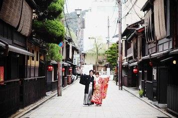 巽橋・祇園・平安神宮・東山白川で京都和装ロケーション撮影
