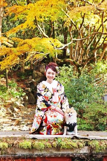 [紅葉プラン]お子様と愛犬と一緒に和装フォトウェディング