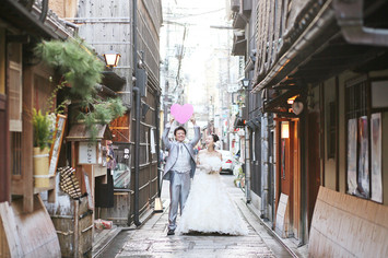[紅葉プラン]神奈川から京都洋装フォトウェディング