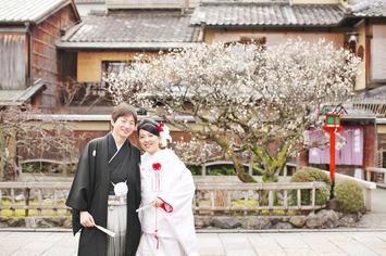 [和装洋装ロケーションプラン]横浜から京都フォトウエディングでお越しいただきました