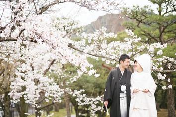 [和装ロケーションプラン]香港よりご帰国し結婚の前撮りでお越しいただきました