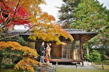 [和装ロケーション]紅葉の日本庭園が美しい無鄰菴で撮影
