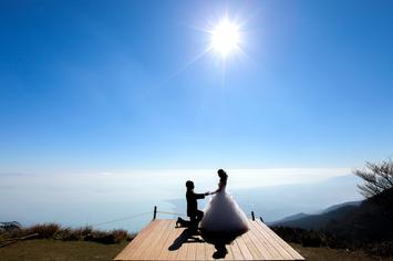 [びわこバレイロケーション]琵琶湖の絶景に囲まれての前撮り
