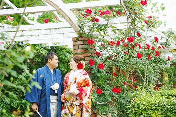 [和装ロケーション]新緑の美しい結婚前撮り