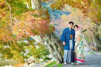[和装ロケーション]茨城県から京都へ前撮りでお越しいただきました