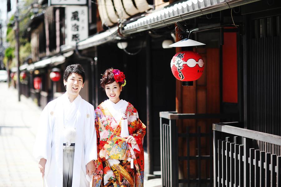 風情のある祇園で結婚写真 京都ブライダルフォトワークス