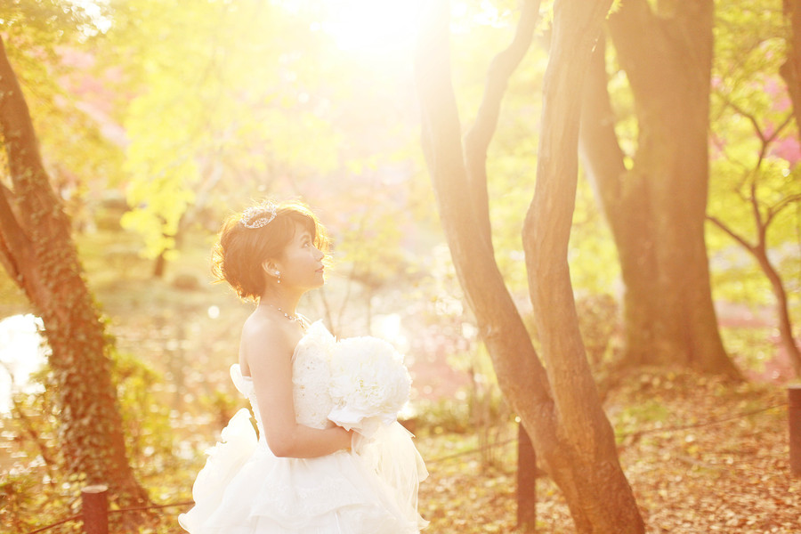 京都でウェディングドレスの撮影