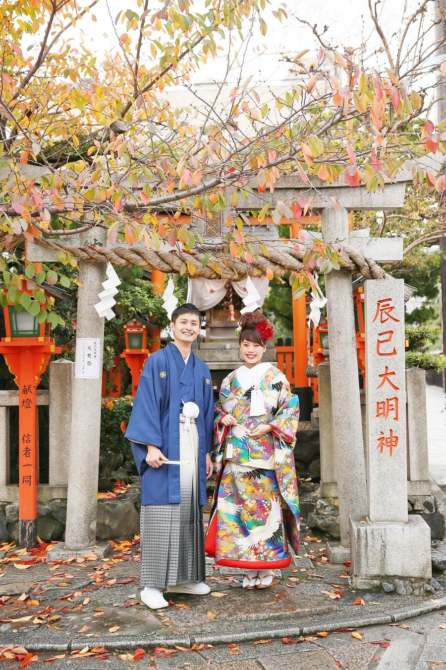 京都祇園の紅葉ロケーション