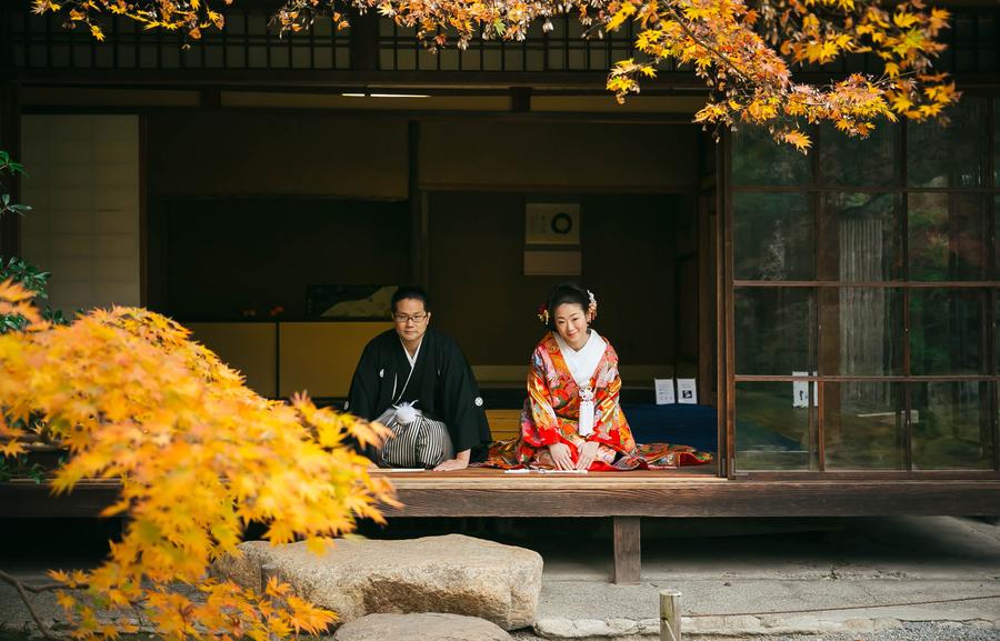 京都無鄰菴で和装前撮り