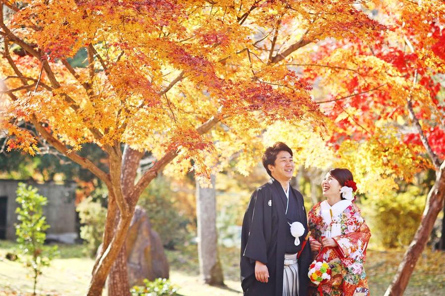 京都嵐山の紅葉ロケ