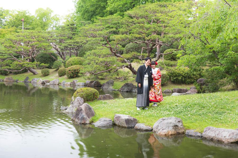 新緑シーズンの岡崎公園