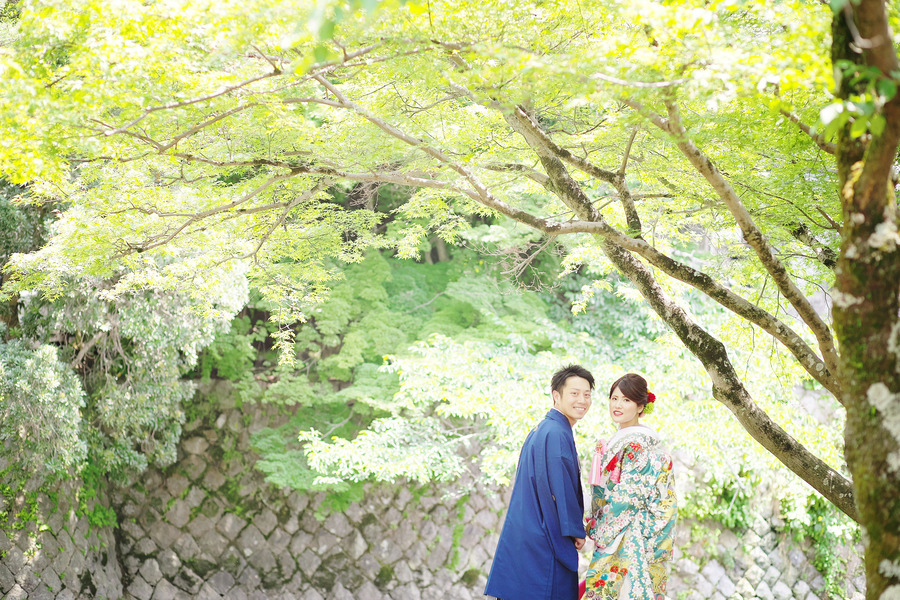 京都嵐山で色打掛の前撮り