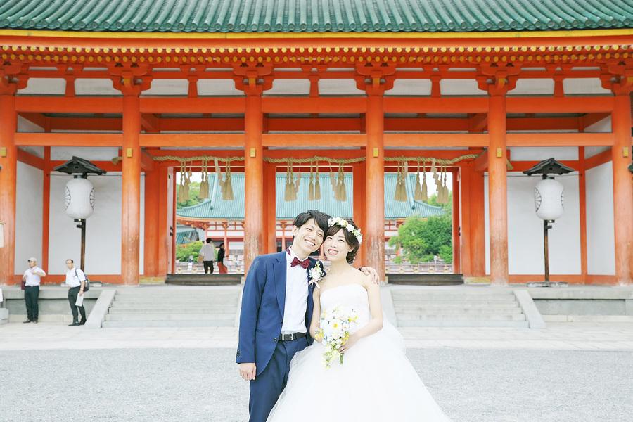 平安神宮で洋装の前撮り