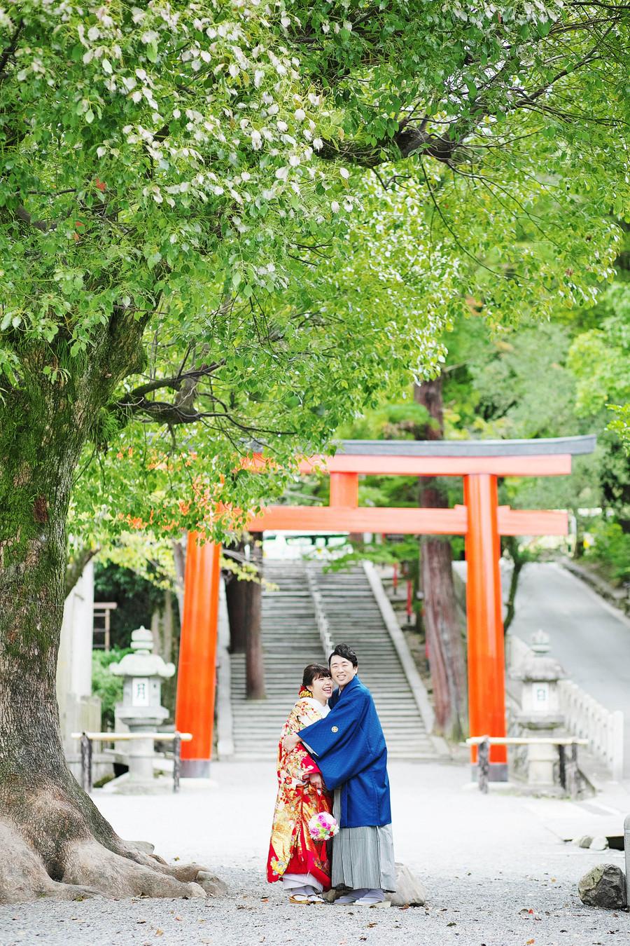 吉田神社で和装フォトウェディング
