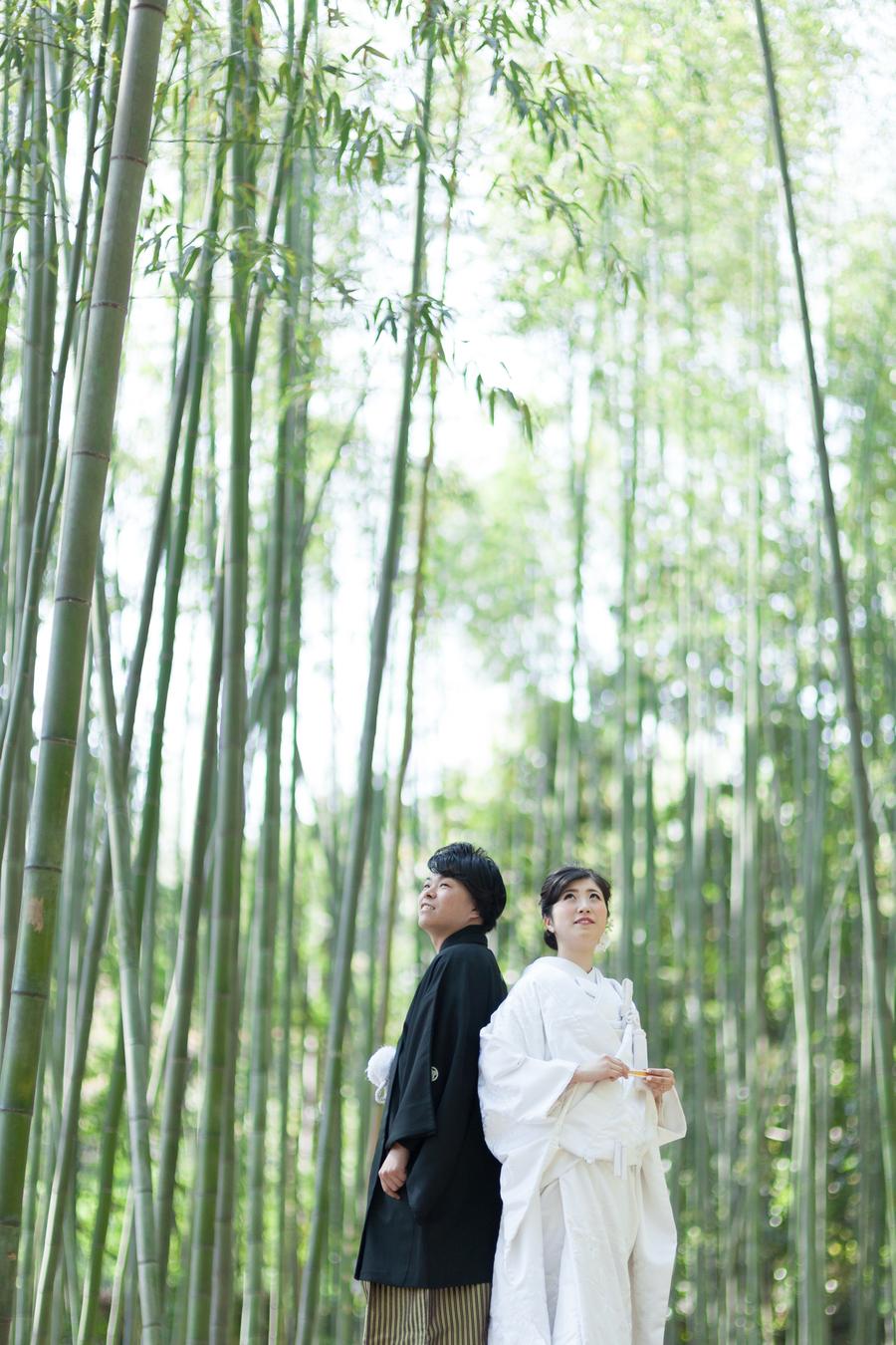 嵐山竹林の和装ロケ
