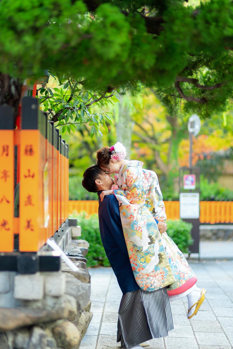 秋の祇園で前撮り