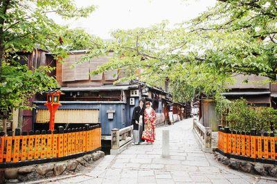 京都 祇園で和装の前撮り♪
