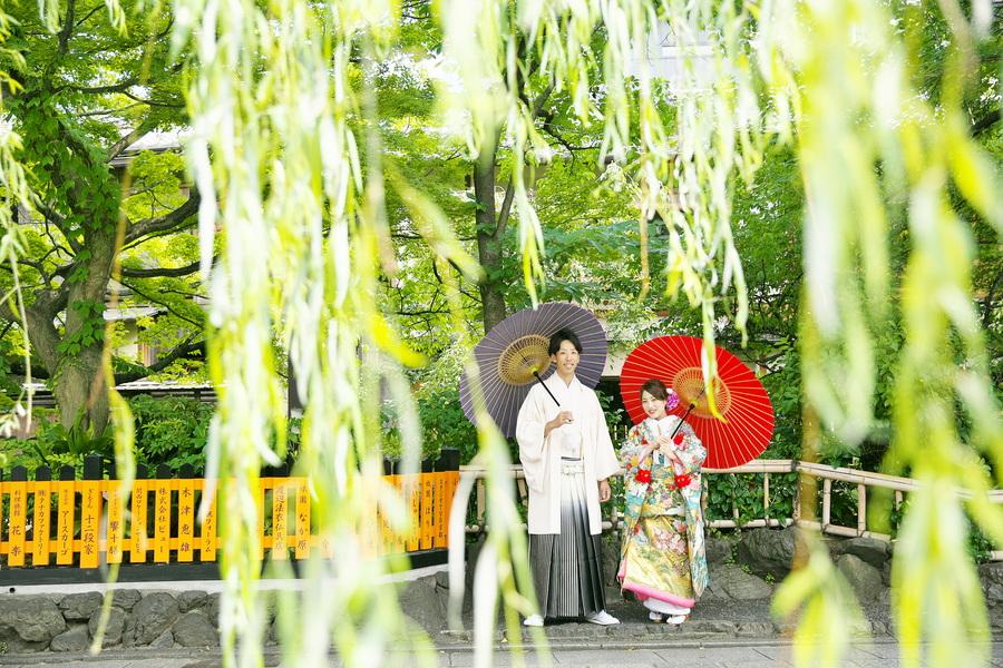 京都祇園の新緑和装ロケーションフォト