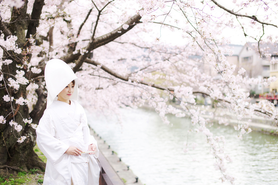 京都で白無垢の結婚前撮り